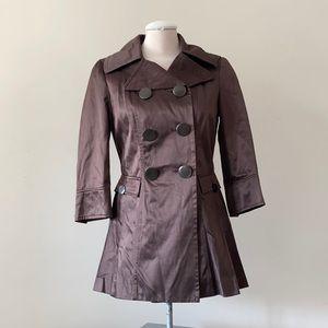 NEW Bebe brown trench coat